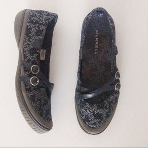 Merrell black and grey Mary Janes size 8.5